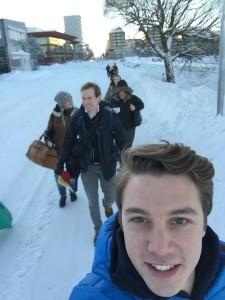 Glada ambassadörer i ett snöigt Luleå!