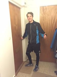 Så här cool kan man se ut när man är påväg ut i löparspåret!