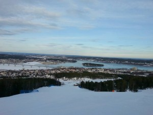 Här är utsikten från mässan i Sundsvall.