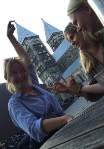 Tre saker att sakna med Lund: Miljön, vänner och vänner som kan ta coola foton så att det ser ut som en petar på domkyrkans torn. Mm.