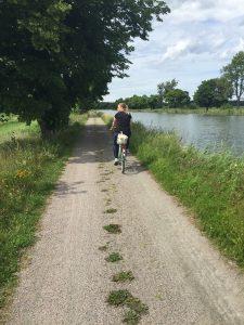 Cykeltur längs Göta kanal