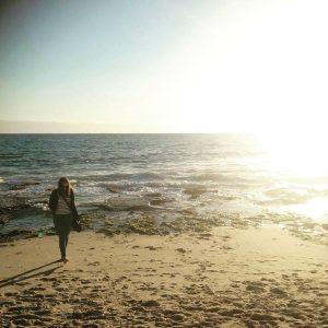 Tittade på solnedgången på Cottesloe Beach.
