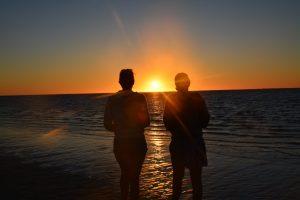Solnedgång i Coral bay