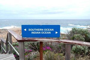 """Vi besökte även """"the Southern cape"""", udden där Indiska oceanen och Antarktiska oceanen möts."""