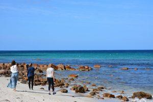 Ännu en strandbild tänker ni. Men är man i Australien så är man...